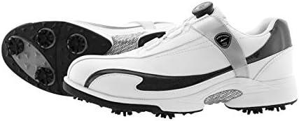 軽量・防水 ワールドイーグル メンズ ワイヤー ダイヤル式 E-LINE スパイクシューズ 疲れないインナーソールと専用シューズ袋付/White/Black/26.5cm