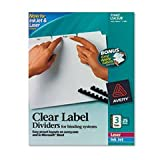 * Index Maker Clear Label Unpunched Divider, 3-Tab, Letter, White, 25 Se