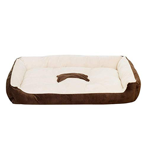 (RONGFAFA Pet Kennel Cat Litter Spring and Summer Pet Nest VIP Teddy Small Dog Golden Retriever Dog Bed Dog Pad Suitable for 10 Kg Pet (Color : Brown))