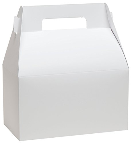 Gable Box Deluxe Food Container by Tap - 50 Quantity (White)