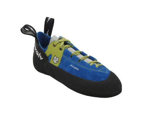 evolv Men's Axiom Climbing Shoe,Blue/Green,10.5 M US