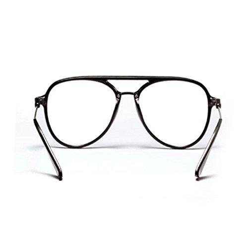 e6ae674fb851 Amazon.com  Oversized Glasses for Men Retro Eyeglasses Frame Women  Accessories Transparent (black)  Clothing