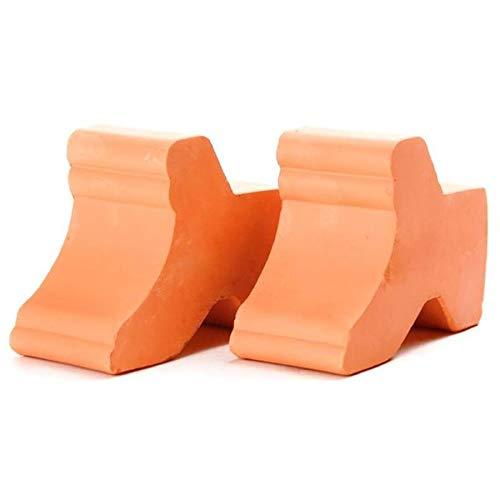 - Terra Cotta 1.499-in Clay Red Indoor/Outdoor Corner Ceramic Plant Stand