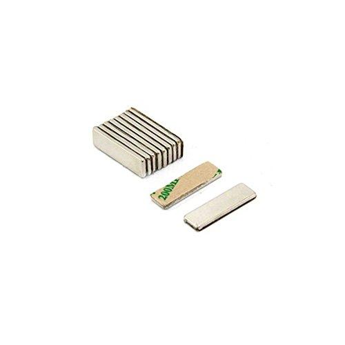 20Pcs 32 X 2 mm Selbstklebende Neodym Magnete f/ür DIY Building Craft Office Starke N52 Runder Scheibe Magnet mit Klebeband