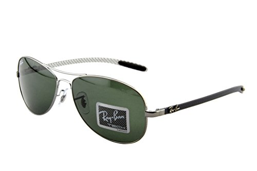 Ray-Ban RB8301 - SHINY GUNMETAL Frame GREEN Lenses 59mm - 8301 Rb