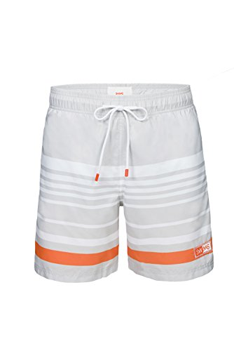 SWIMS Lucea Logo Men's Board Shorts Super-Light, Quick Drying Trunks In Gray - Size M by SWIMS