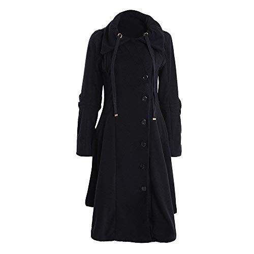 Incappucciato Lunga Coat Marca Cappotto Calda Giaccone Di Mode Alta Prodotto Giacca Bolawoo Schwarz Colori Solidi Eleganti Outerwear Vita Manica Termico Plus Fashion Donna g7n4HqE