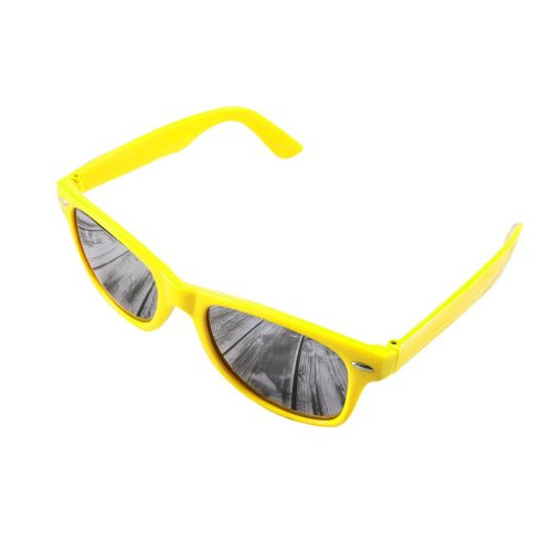 New Soleil Unisexe Lunettes Miroir ou UV400 mirror de nbsp;Marque de yellow Objectif Negro Lunettes schwarz 4sold Soleil Idq8I
