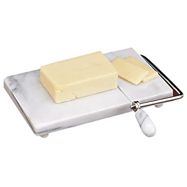 Fox Run White Marble Cheese Slicer, with 2 Free Replacement Wires