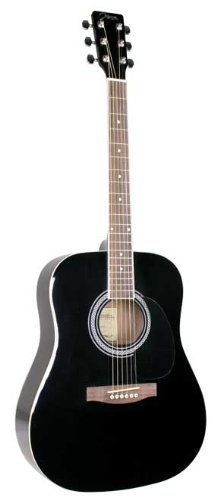 - Johnson JG-620-B 620 Player Series Acoustic Electric Guitar, Black