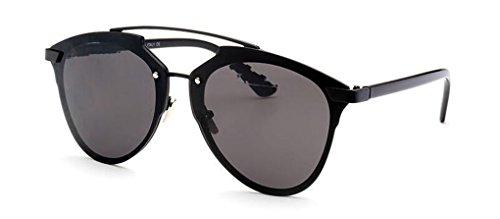 GAMT Fashion Prism Effect Anti-UV Aviator Sunglasses for Women Black Frame Black Gray - Us Contact Sunglass Hut