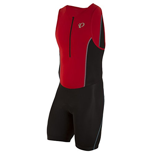 Pearl iZUMi Men's Select Pursuit Tri Suit, Black/True Red, - Triathlon Suits Men