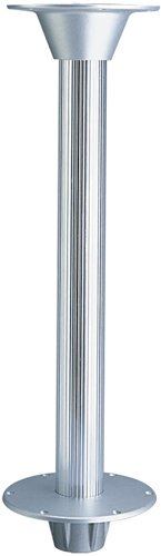 Garelick 75357:01 Table Pedestal for Larger Boats - Fluted Taper Stanchion Post Only, (Stowable Table Pedestal)
