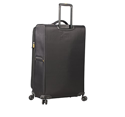 Lucas Ultra Lightweight 3 Piece Expandable Suitcase Set With Spinner Wheels (One Size, Black) by Lucas (Image #2)