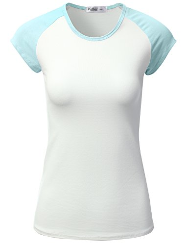 JJ Perfection Women's Short Sleeve Slim Fit Baseball Jersey Raglan