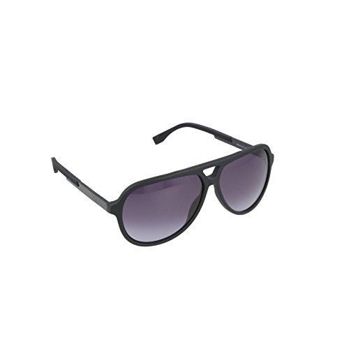 BOSS by Hugo Boss Men's B0731S Aviator Sunglasses, Matte Black/Carbon/Gray Gradient, 60 - Boss For Sunglasses Men