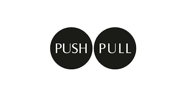 Amazon.com: Cartel para puerta de Push Pull – 4