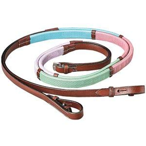 - Dover Saddlery Rubber Training Reins - Pastels, Size Pony
