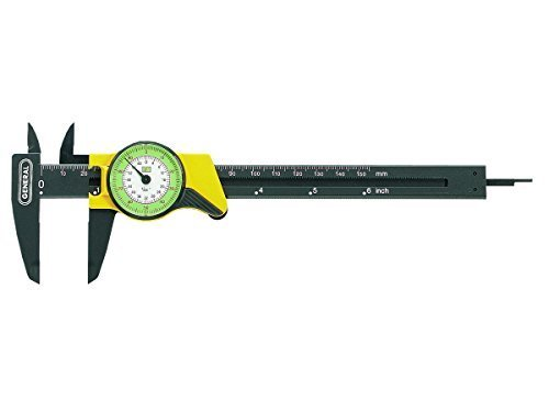 General Tools 142 6-Inch English and Metric Plastic Dial Caliper by General Tools