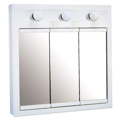 Design House 532374 24-Inch Concord Ready-To-Assemble 3 Light Medicine Cabinet, White