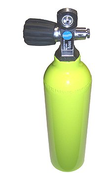 (Sherwood 6 cu ft 3000 PSI Aluminium High Pressure Spare Emergency Tank Cylinder with Valve for Scuba Diving Pony Bottle)