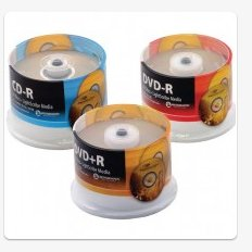 Microboards DVD+R DL, 8x, 8.5GB, white ink jet hub printable, 6 50 disc spindle by Microboards