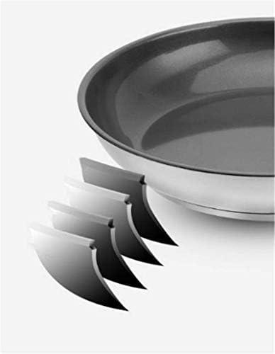 DXDUI 304 Batterie De Cuisine en Acier Inoxydable Couche De Céramique Non-Stick Composite Multilayer Frying Pan Bas