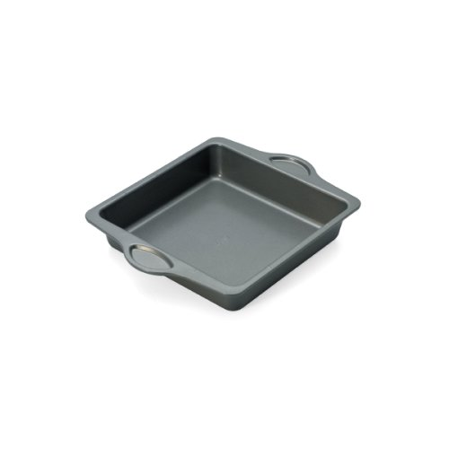 Hoffritz Measure Marks 9-Inch Carbon Steel Non Stick Square Cake Pan
