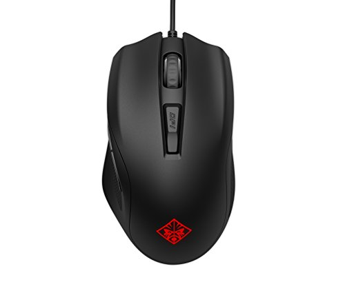 OMEN by HP Wired USB Gaming Mouse 400 -Optimized Mechanical Switches – Quick Adjust 5,000 DPI Optical Sensor – Sniper Mode - RGB LED – Customizable Buttons