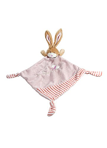 Pink Bunny Rabbit Comfort Blanket Security Blankie for Newborn Baby Girl Mousehouse Gifts MH-100409