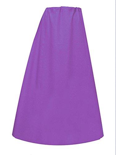 Mujer Indian Sari Algodón preconfeccionado Enaguas o costuras enaguas en talla única 022 Lila