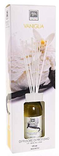 GIRM®® - ME16460 Diffusore d'Essenza con Bastoncini in Cotone Aroma Vaniglia ml 125