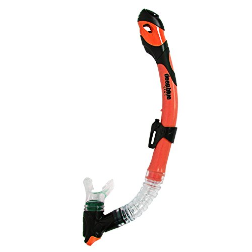 Deep Blue Gear Ultra Dry 2 Snorkel, Neon Orange