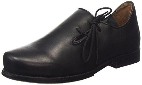 Stocker Punt Schoen 1290 Mannen Derby Lace Up Brogues Zwart (black)