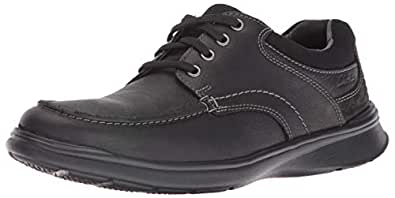 Clarks Men's Cotrell Edge Oxford, Black Oily Leather, 7 D-Medium US