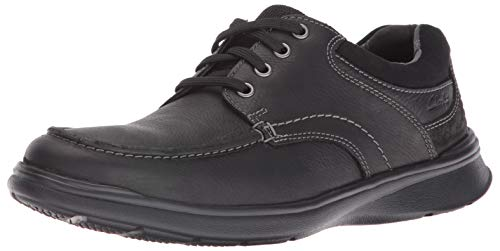 Clarks Men's Cotrell Edge Oxford, Black Oily Leather, 10 D-Medium US ()