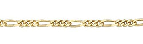 Figaro chaîne collier en or 333 36 cm