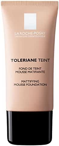 La Roche-Posay Toleriane Teint Mattifying Mousse Matte Foundation for Oily Skin and Sensitive Skin, Light Beige