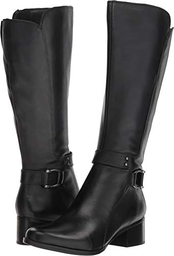 (Naturalizer Women's Dane Black Leather 7.5 W US )