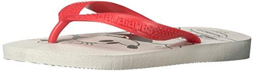 Havaianas Women's Top Disney White Flip Flop, 39 BR/9/10 M U