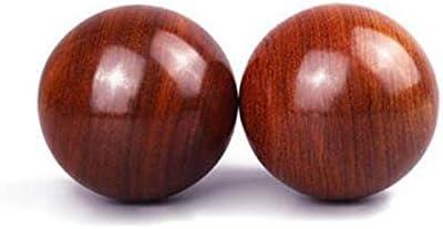 フィットネスボール、ハンドボールHuanghuali、ローズウッドハンドボール、パームマッサージボールハンドボール、中年や高齢者リハビリテーションハンドボール50ミリメートル長寿ボール+バッグ (サイズ : 6.0cm)