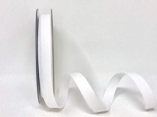 Cinta blanca de mezcla de algodón de 14 mm en una longitud de 3 m (N.B. Este es un corte de un rollo, presentado en una tarjeta de Berties Bows.: Amazon.es: Hogar