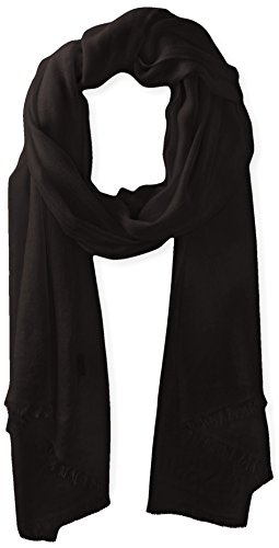 Phenix Cashmere Lightweight 100% Cashmere Scarf, Black, One Size by Phenix Cashmere