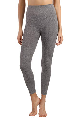 Seamless Base Layer Pants - +MD Women's High Waisted Seamless Long Pants Thermal Underwear Bottoms Base Layer Leggings Dark Grey XL