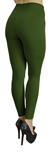 8d951733b4c4a9 Belle Donne - Women's Fleece Lined Leggings (One Size) - Army Green