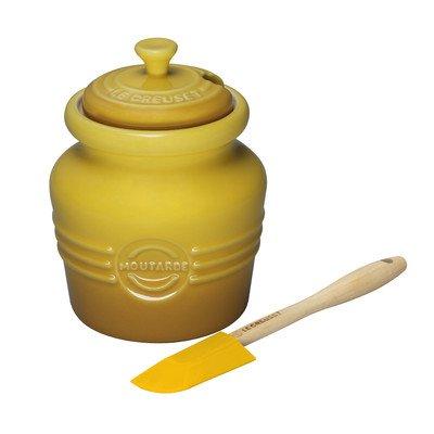- Le Creuset Stoneware 14-Ounce Mustard Jar, Dijon