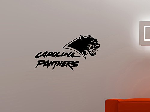 Carolina Panthers NFL Emblem Wall Sticker Extreme Sports Sign Vinyl Decal Home Interior Decorations American Football Team Logo Art Locker Room Bedroom Office Decor 3cp (40