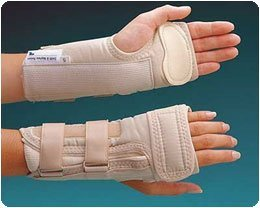 Rolyan A6129 D-Ring Wrist Brace with MCP Support, Left, E...