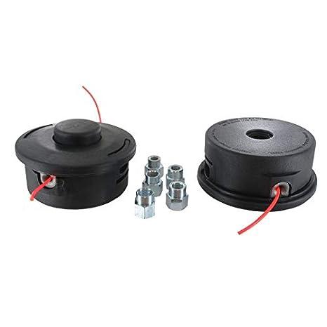 Cabezal de nylon 25-2 desbrozadora universal con adaptadores de rosca