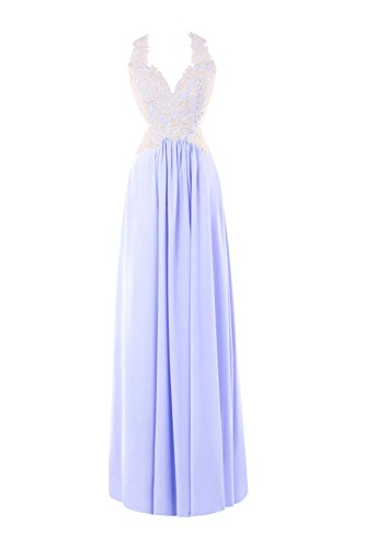 Neck Women's Appliques Bess Lavender Long Prom Dresses V Evening Bridal Lace naAXX4B